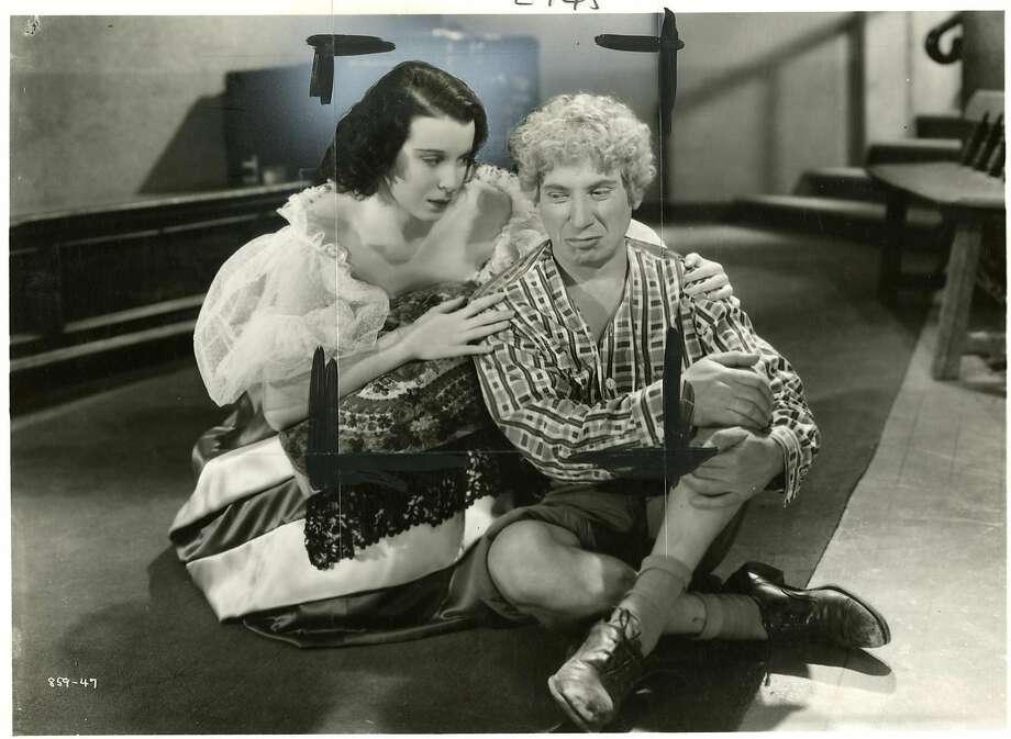 "The disturbing Harpo Marx, here with Kitty Carlisle in ""A Night at the Opera."" Photo: Sfc"