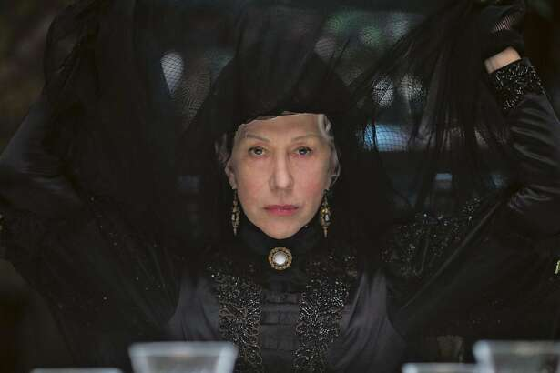 "Helen Mirren as Sarah Winchester in ""Winchester."" Sarah built San Jose's Winchester Mystery House."