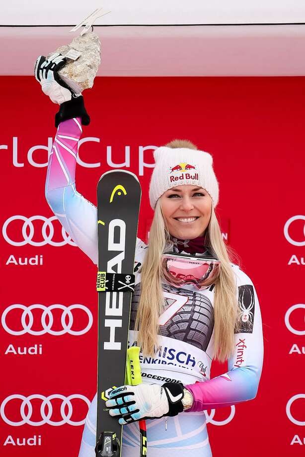 GARMISCH-PARTENKIRCHEN, GERMANY - FEBRUARY 04: Lindsey Vonn of USA takes 1st place during the Audi FIS Alpine Ski World Cup Women's Downhill on February 4, 2018 in Garmisch-Partenkirchen, Germany. (Photo by Millo Moravski/Agence Zoom/Getty Images) Photo: Millo Moravski/Agence Zoom, Getty Images