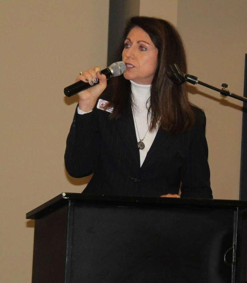 The Greater Cleveland Chamber of Commerce had Melissa Lanier speak at the Feb. 1 luncheon where she gave the State of the Chamber address and asked the crowd to adopt a pay-it-forward mentality. Photo: Jacob McAdams