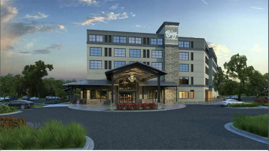 This rendering depicts the front of the new The Bevy Hotel Boerne, a Hilton DoubleTree property, which will feature much-needed meeting space for conventions when it opens next year. Photo: Courtesy /Hilton