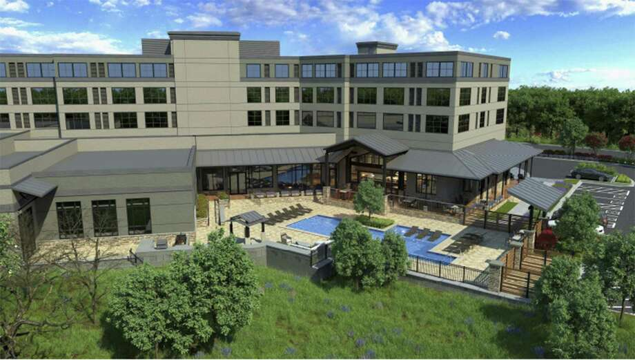 This rendering shows the Bevy hotel that will be built in Boerne. Affiliated with the Hilton DoubleTree hotel group, the boutique hotel will have 120 rooms and a 7,200-square-foot conference center that local officials have long sought in the area to attract conventions and other meetings. Photo: Courtesy /Hilton