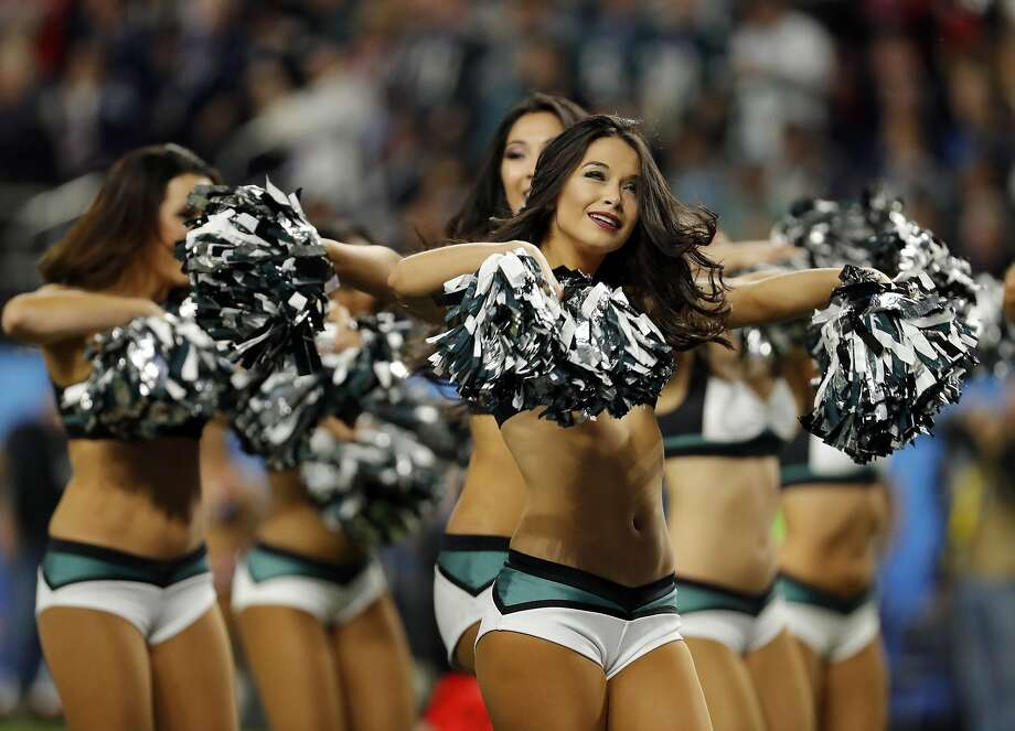 Philadelphia Eagles cheerleaders perform, during the first half of the NFL Super Bowl 52 football game against the New England Patriots, Sunday, Feb. 4, 2018, in Minneapolis. (AP Photo/Charlie Neibergall) Photo: Charlie Neibergall, Associated Press