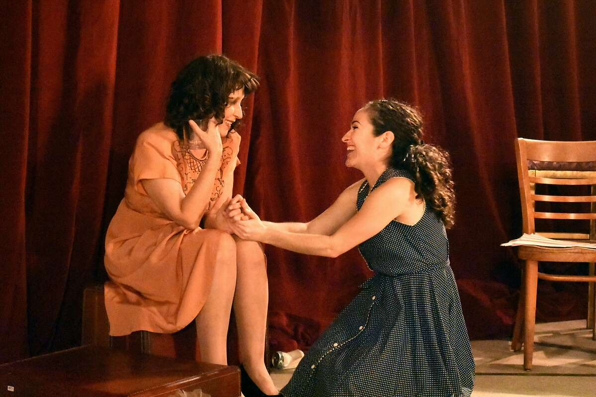 """From left:�Lisa Ramirez as Blanche and Sarita Oco�n as Stella in Ubuntu Theater Project's """"A Streetcar Named Desire."""""""