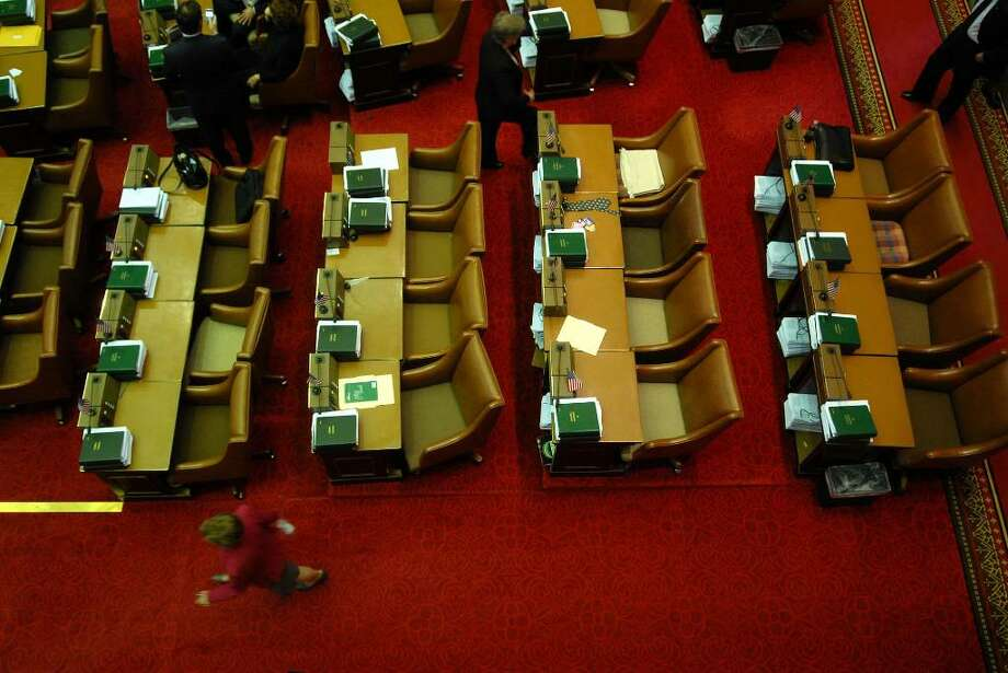 SPECIAL sessions continued throughout the year as the governor and Legislature confronted waves of budget deficits and other problems at the Capitol. Work awaits the Assembly.  (Paul Buckowski/Times Union) Photo: PAUL BUCKOWSKI / 00006477A