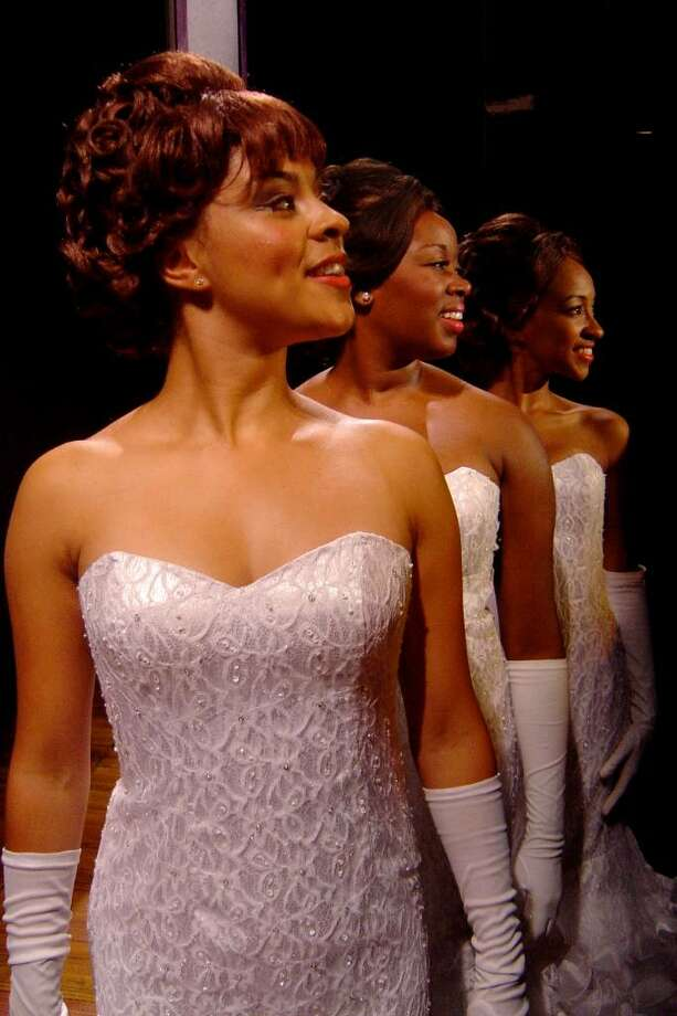 """Kelcy Griffin,Talitha Farrow and Allison Semmes perform in """"Dreamgirls."""" (C-R Productions) Photo: C-R Productions"""