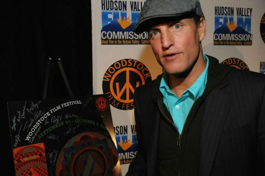 Woody Harrelson THE MESSENGER signs in to the Woodstock Film Festival on Thursday night at New World Home Cooking. (Photo Trish Lease)