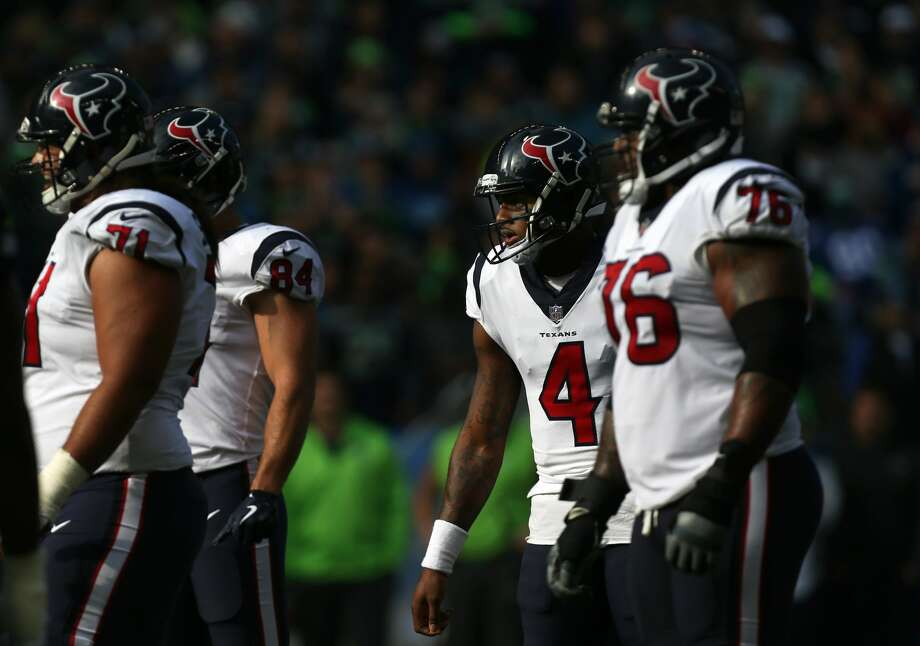 5 keys to Texans' offseason1. Upgrading the offensive line and secondary: The Texans' pass protection was substandard last season as it became woefully evident that the offensive line lacked quality starters besides promising center Nick Martin, who'll spend this offseason rehabilitating from ankle surgery. The Texans could use as many as four new starters next season across the line. For general manager Brian Gaine, one of his first tasks will be investing money in free agency along with draft picks into improving a group that will need to protect quarterback Deshaun Watson as he recovers from a torn anterior cruciate ligament. The secondary became extremely vulnerable last season, in part due to a lack of a consistent pass rush. The Texans need help at cornerback and safety. There were a lot of mismatches in the wake of losing cornerback A.J. Bouye, who intercepted six passes and was named to the Pro Bowl after signing a five-year, $67.5 million contract with the Jacksonville Jaguars. Photo: Godofredo A. Vasquez/Houston Chronicle