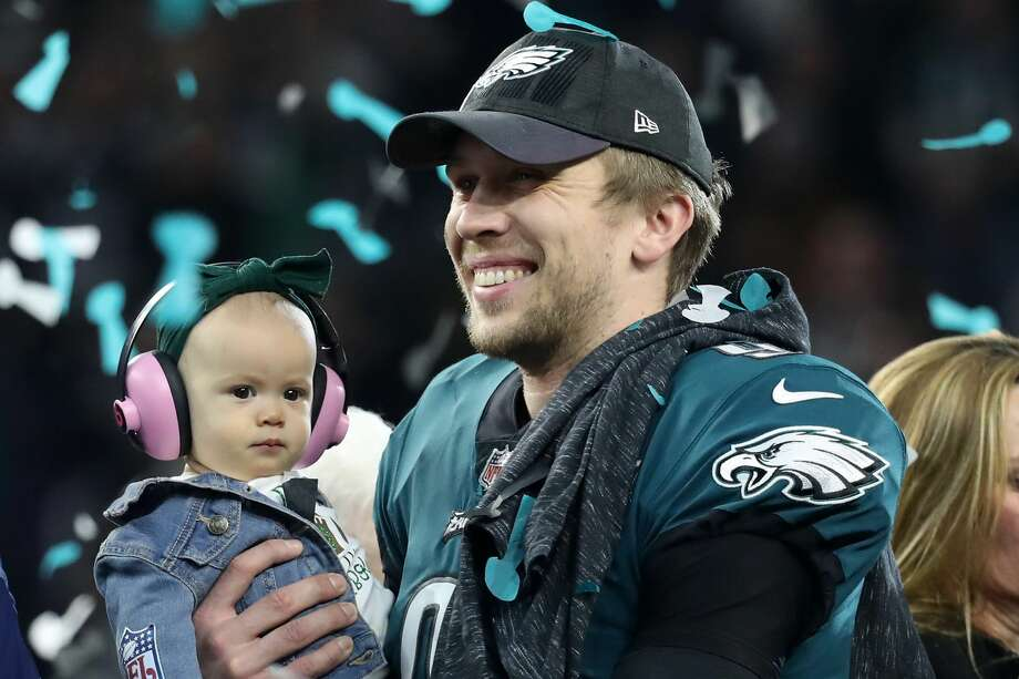5 thoughts from Eagles' Super Bowl victory1. St. Nick: It was a remarkable display from a former backup quarterback as Nick Foles managed to outduel legendary Patriots quarterback Tom Brady. From contemplating leaving the game a year ago to capably replacing injured starter Carson Wentz, the Texas native earned the Super Bowl Most Valuable Player trophy by passing for 373 yards and three touchdowns and catching one touchdown. If not for Foles' composure, accuracy and grit, the Eagles wouldn't have been able to knock off the Patriots and prevent them from winning their sixth Super Bowl trophy. Foles passed for 971 yards, six touchdowns and one interception this postseason. Photo: Rob Carr/Getty Images