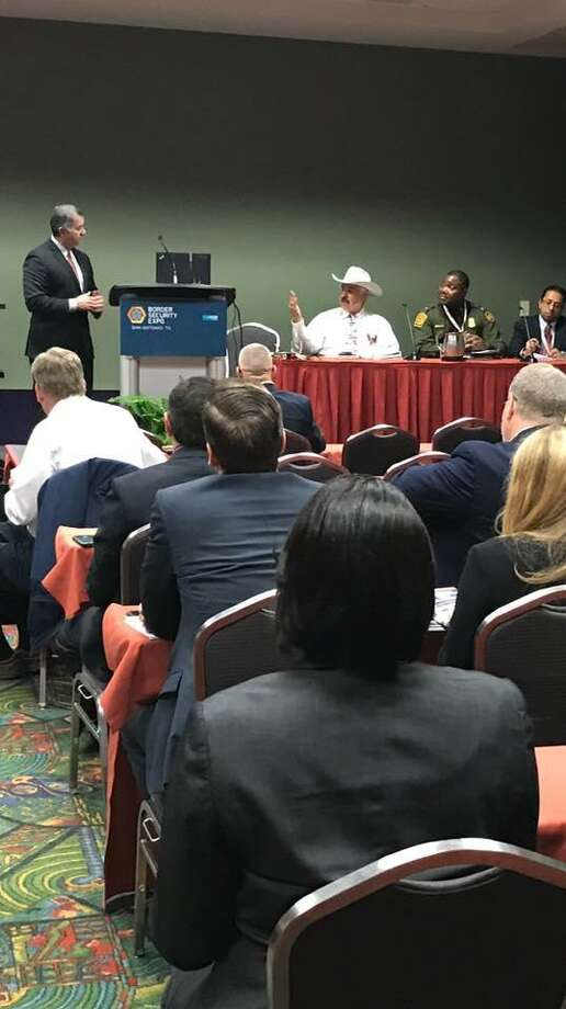 Webb County Sheriff Martin Cuellar served as a panelist in the Border Security Expo that took place in San Antonio this week. Photo: Courtesy Photo /Webb County Sheriff's Office