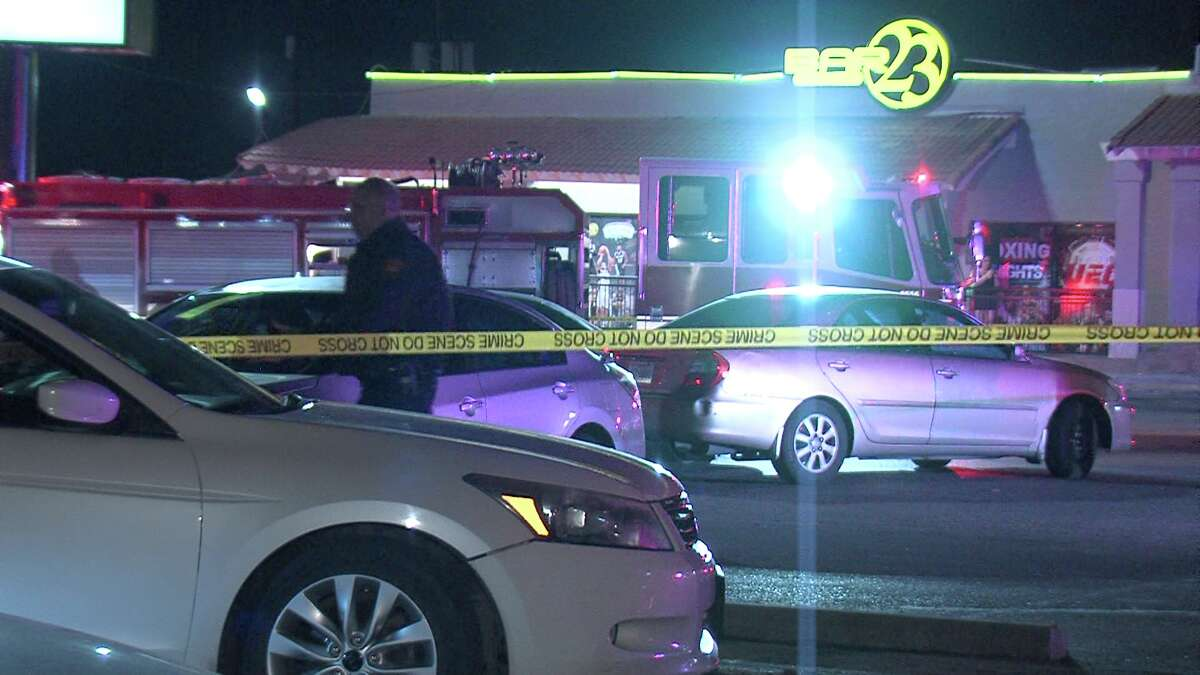 A woman was shot in the neck around 2:20 a.m. Monday after she tried to run over a security guard in the parking lot of Bar 23 in the 4400 block of Walzem Road. A fight had broken out, and during the altercation, the woman sped towards the security guard.