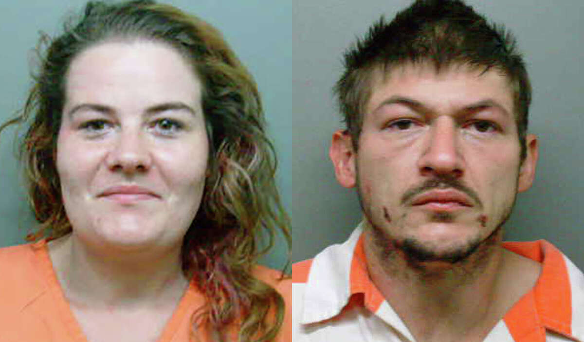Alexandria Holloway and Matthew Follis are each charged with nine counts of vehicle theft and faces two additional charges of possession of a controlled substance and felon in possession of a firearm after authorities raided an alleged chop shop in San Jacinto County on Friday, Feb. 2, 2018.
