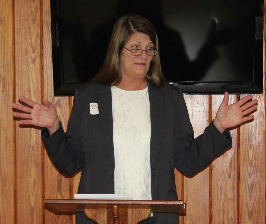 Sherri Schell of the San Jacinto County Appraisal District discusses the ins and outs of the appraisal system during the Coldspring/San Jacinto County Chamber luncheon on Jan. 30. Photo: Jacob McAdams