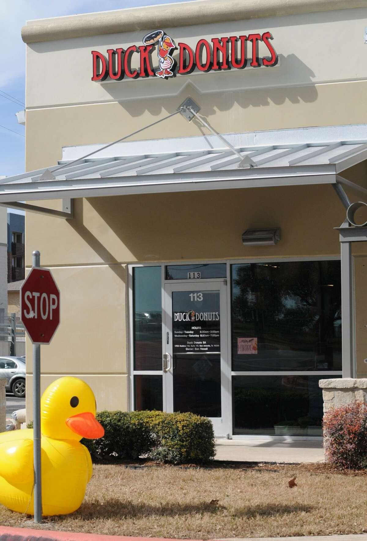 Duck Donuts, 11703 Huebner Road, Suite 113.