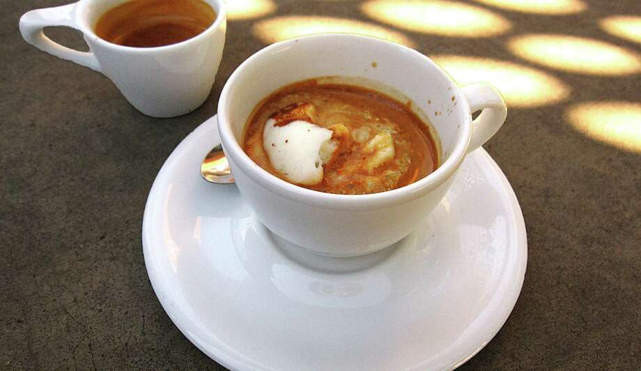 Affogato with Lick Honest Ice Cream, foreground, and an espresso from Rosella Coffee Co. on East Jones Avenue. Photo: Mike Sutter /San Antonio Express-News