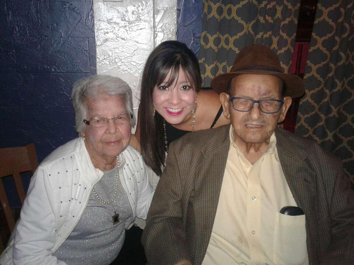 Madrid party: Maria Madrid, from left, Corbette Padilla and David Madrid