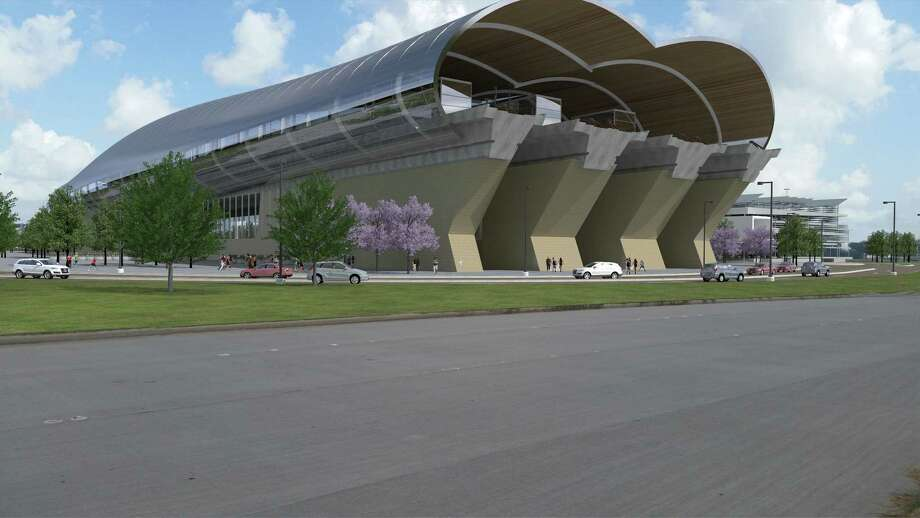 Texas Central Partners announced Monday it has chosen Northwest Mall as its preferred high-speed rail station in the Houston area. Renderings of the station were unveiled during the announcement. Photo: Texas Central Partners