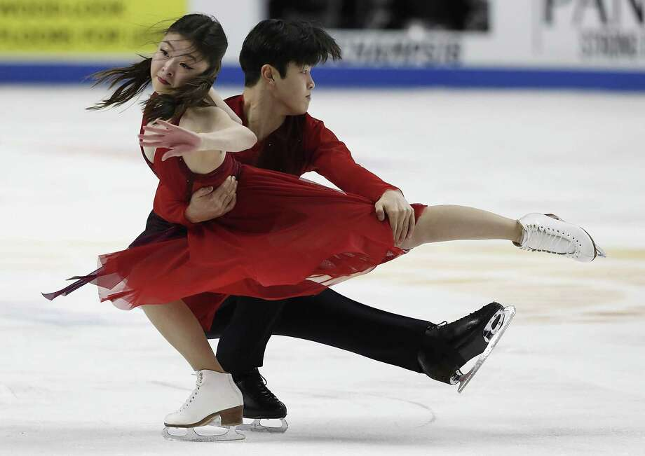 Maia Shibutani, left, and Alex Shibutani perform during the free dance event at the U.S. Figure Skating Championships in San Jose, Calif., Sunday, Jan. 7, 2018. The siblings, who learned to skate at the Dorothy Hamill Skating Rink in Byram, will compete as part of Team USA in the Winter Olympics in Pyeongchang, South Korea. Photo: Tony Avelar / Associated Press / FR155217 AP