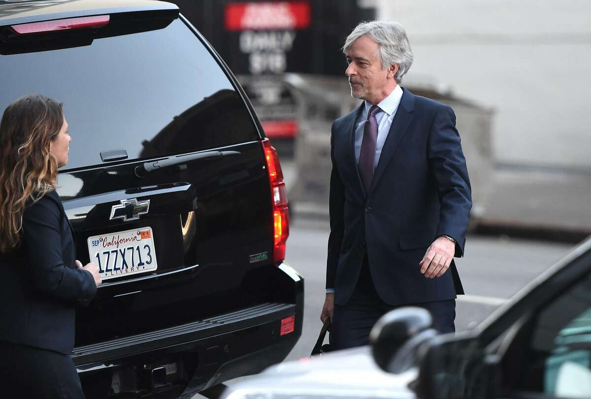 Waymo CEO John Krafcik arrives at the Phillip Burton Federal Building and United States Courthouse for the start of the Waymo vs. Uber trial in San Francisco, California on February 05, 2018. The billion-dollar trial pitting Alphabet-owned autonomous driving unit Waymo against Uber started in what could be a blockbuster case between two technology giants over alleged theft of trade secrets. The San Francisco courtroom battle will take place as Waymo and Uber race to perfect self-driving cars that people could summon for rides as desired in a turn away from car ownership. / AFP PHOTO / JOSH EDELSONJOSH EDELSON/AFP/Getty Images