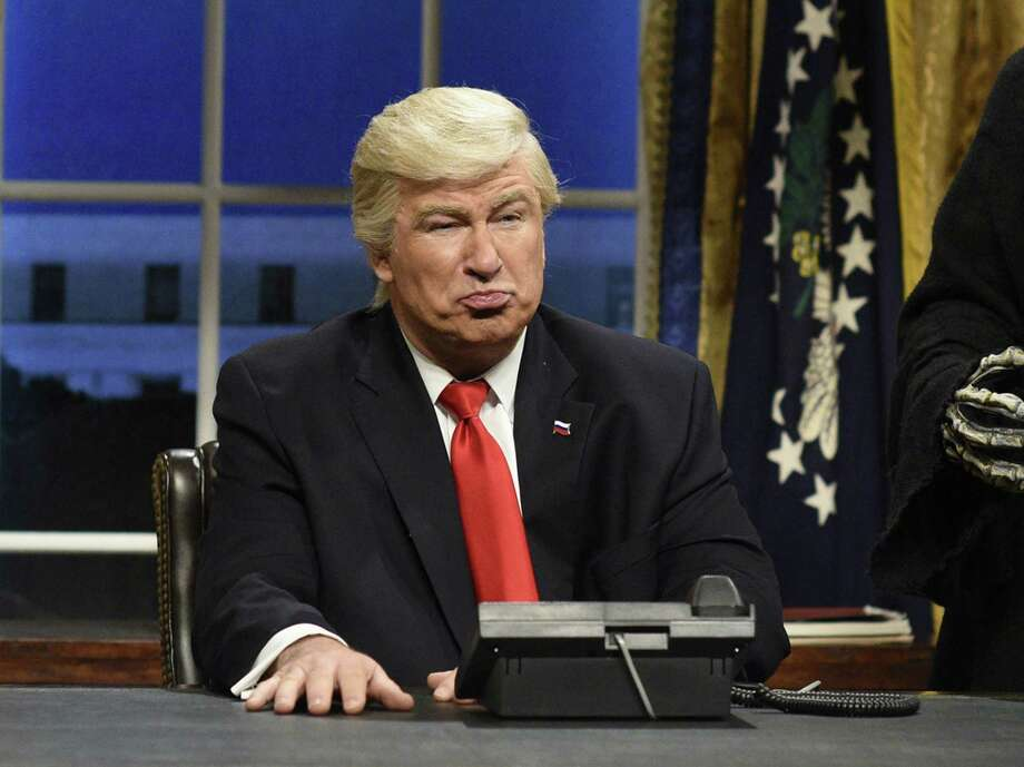 "Alec Baldwin portraying President Donald Trump on ""Saturday Night Live."" Photo: Will Heath / Associated Press / 2017 NBCUniversal Media, LLC"
