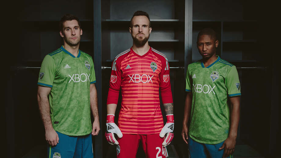 "Seattle Sounders FC unveiled new ""Rave Green"" jerseys on Monday. Photo: Seattle Sounders FC"