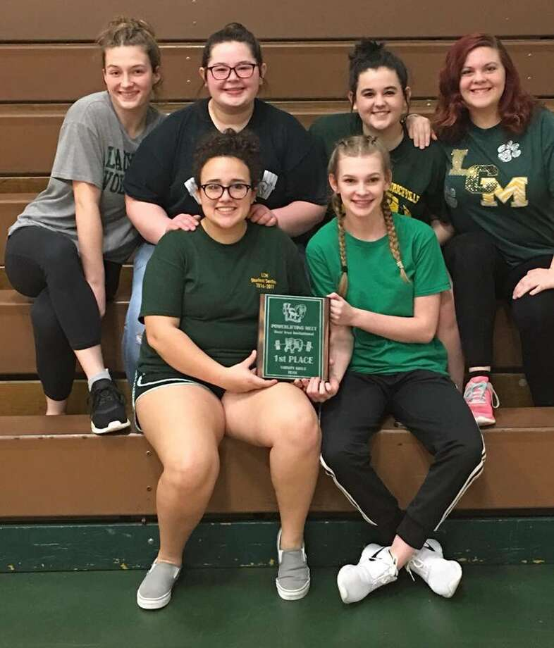 The Lady Bears won first place with a total of 35 pointsat the annual LC-M Powerlifting Meet on Thursday in Orange. (Photo provided by LCM CISD)