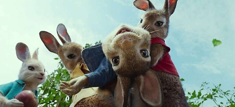 """""""Peter Rabbit"""" mixes live action and annimation. Photo: Sony Pictures"""