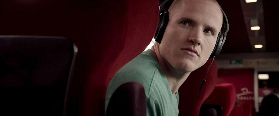 """Spencer Stone re-enacts his 2015 act of heroism in """"The 15:17 to Paris."""" Photo: Warner Bros, TNS"""