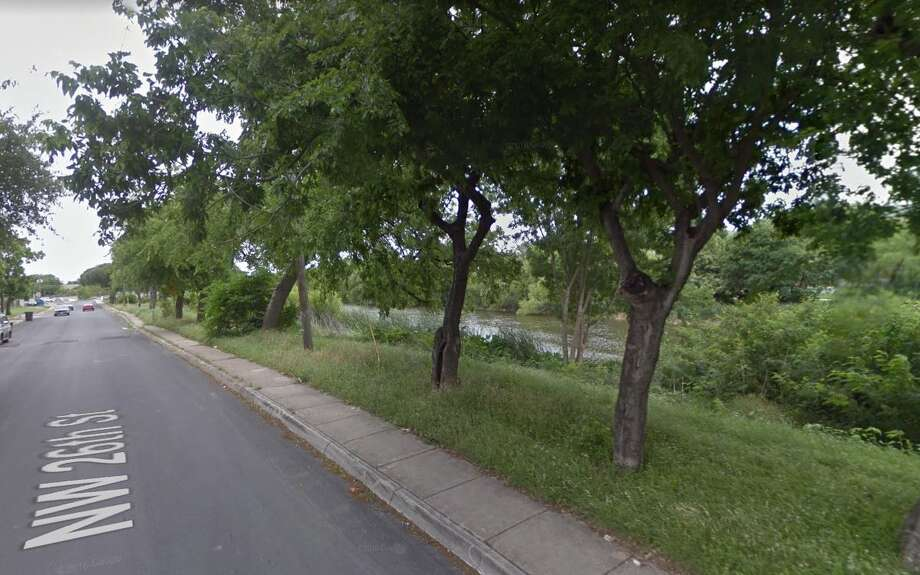 The woman was walking along the Zarzamora Creek near West Travis and Northwest 26th streets around 10:45 a.m. when her dog ran towards an object in the water. Photo: Google Maps