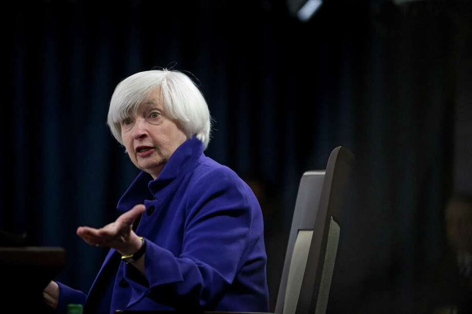 FILE -- Janet Yellen, Federal Reserve Chairwoman, speaks during a news conference in Washington, Dec. 13, 2017. The Fed's landmark settlement with Wells Fargo is an attempt to impress upon banks that their boards of directors should be vigorous, independent watchdogs and if they fail, there will be consequences. Photo: ERIC THAYER /NYT / NYTNS