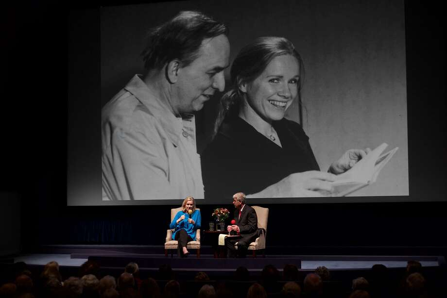 Liv Ullmann and California Film Institute's Richard Peterson at tribute to Ingmar Bergman Photo: The Understory, Special To The Chronicle