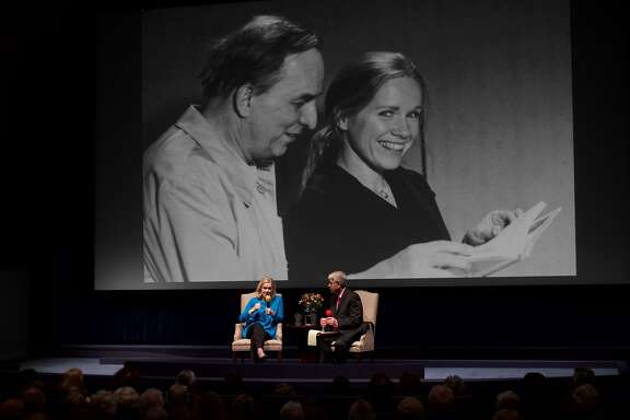 Liv Ullmann and California Film's Richard Peterson at tribute to Ingmar Bergman
