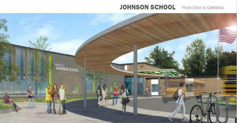 An architect's rendering of renovation plans for Johnson School in Bethel. Photo: Contributed Photos / The News-Times Contributed