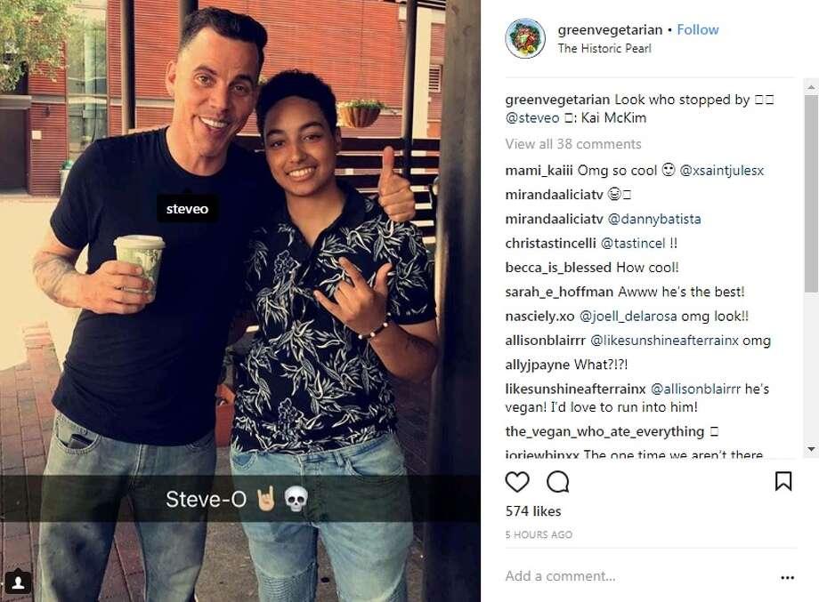 "@greenvegetarian: ""Look who stopped by"" Photo: Instagram/@greenvegetarian"