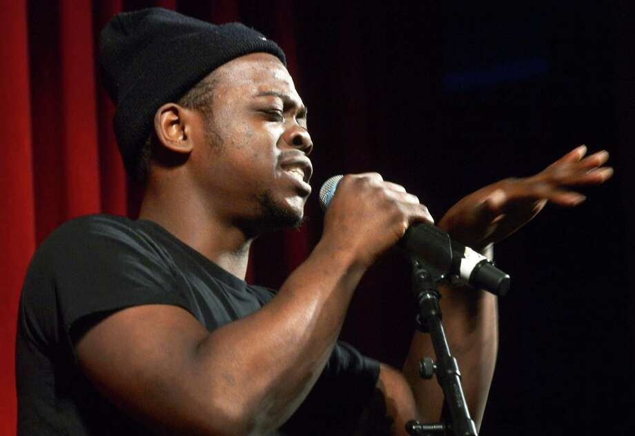 Khalil Williams of Norwalk performs as The Wall Street Theater hosts Connecticuts Got Talent, an audition in front of a live audience to showcase local state talent Friday, February 2,2018, in Norwalk, Conn. Contestants can win both cash and a chance for a headline show at the theater. Photo: Erik Trautmann / Hearst Connecticut Media / Norwalk Hour