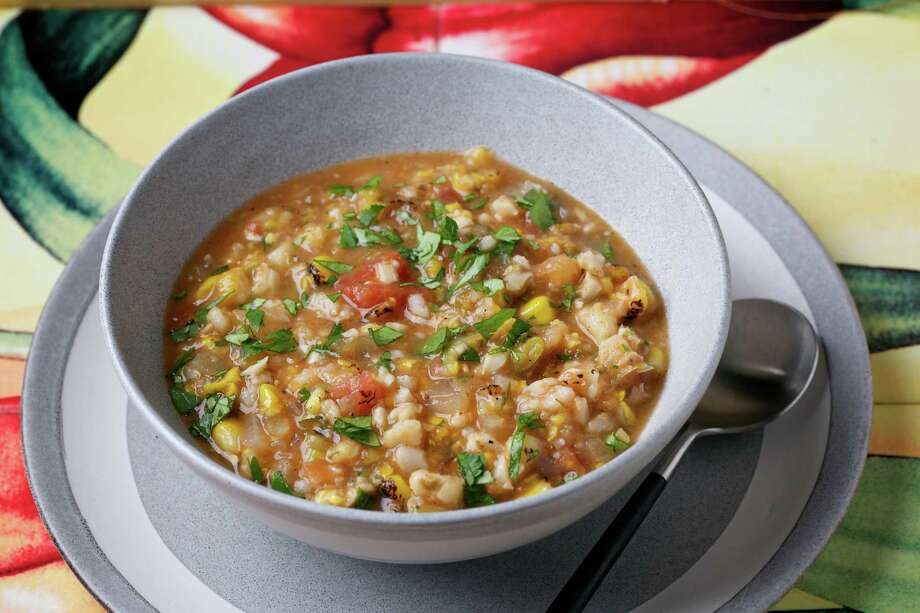 Corn and Hominy Chowder Photo: Deb Lindsey / For The Washington Post