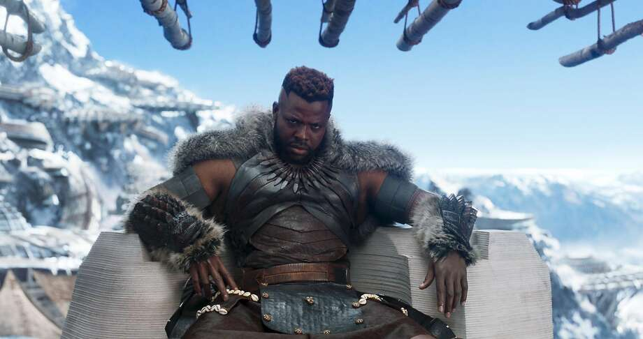 Marvel Studios' BLACK PANTHERCenter: M'Baku (Winston Duke)Ph: Film Frame Photo: Marvel Studios