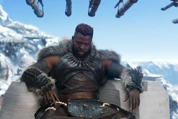 Marvel Studios' BLACK PANTHERCenter: M'Baku (Winston Duke)Ph: Film Frame