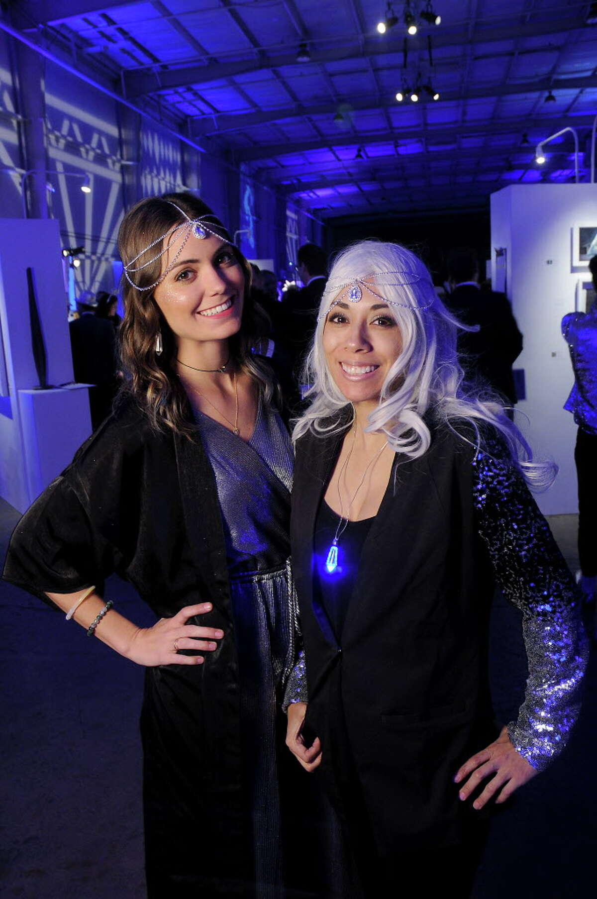 Ricae Feigleson and Angela Carranza at the Crystal Ball benefitting Fresh Arts at the Silver Street Studios Friday Feb. 02,2018. (Dave Rossman Photo)