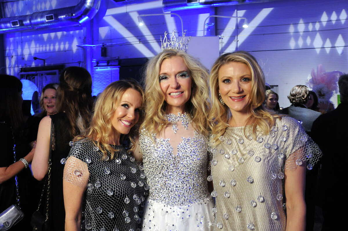 From left: Chairs Raquel Segal, Katie Brass and Stephanie Cockrell at the Crystal Ball benefitting Fresh Arts at the Silver Street Studios Friday Feb. 02,2018. (Dave Rossman Photo)