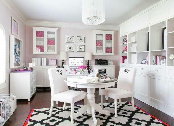 The home office of Marker Girl Interior Design owner Karen Davis.
