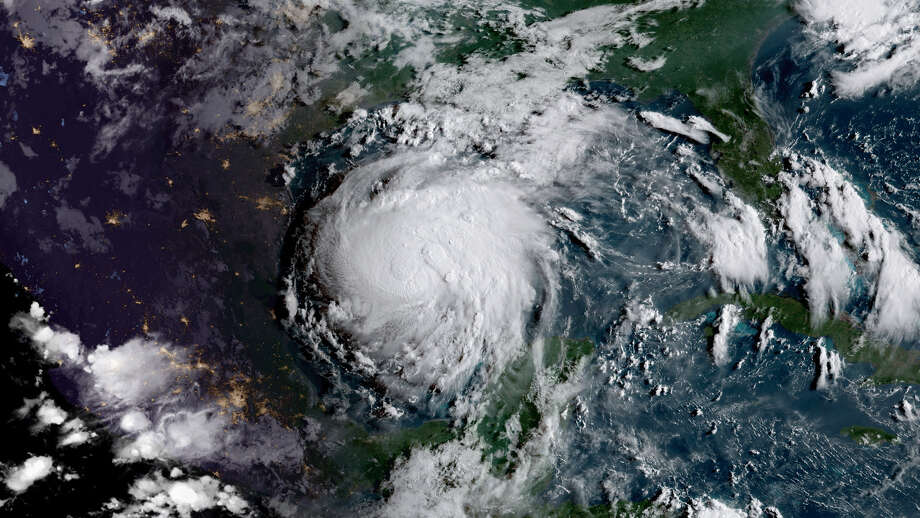 Hurricane Harvey as a Category 1 storm in 2017.Scroll through to see the 2018 storm names. Photo: NOAA/NASA GOES-16