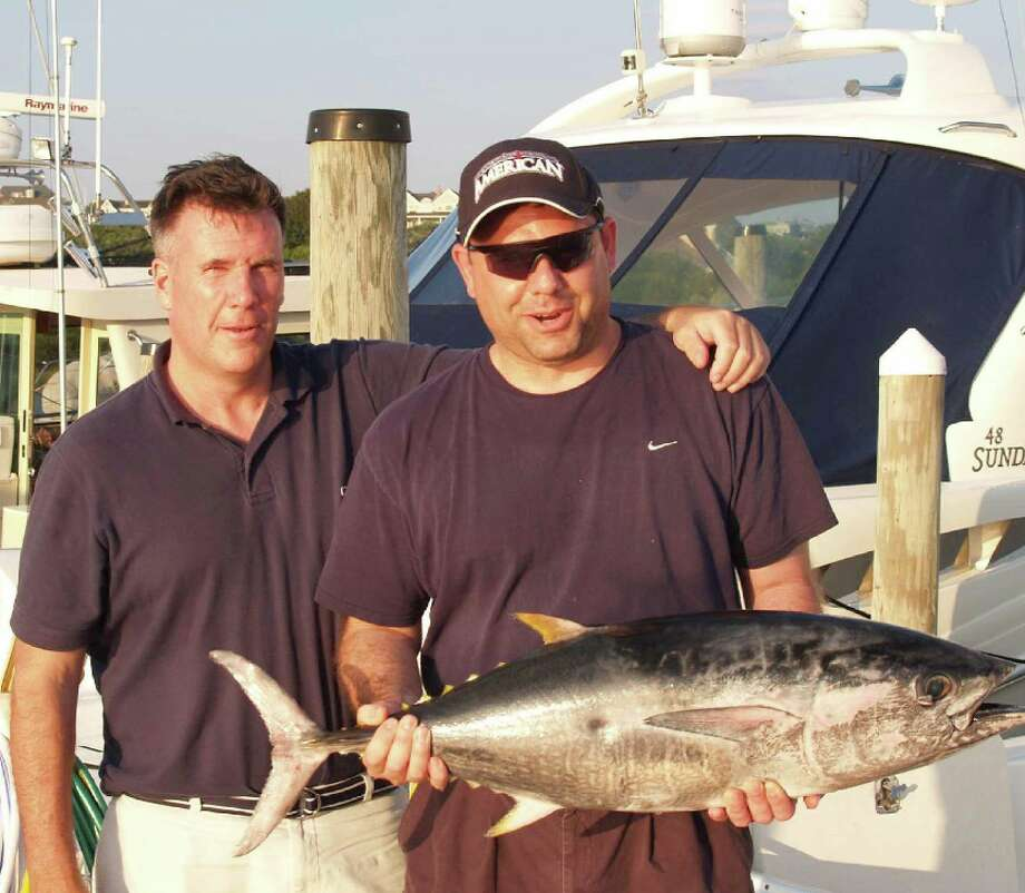 A photo provided by the U.S. Attorney's Office, Southern District of New York, of Todd Howe, left, and Joseph Percoco on a 2010 fishing trip. Howe, the government's key witness, took the stand on Feb. 5, 2018, offering his view of how Percoco, once one of New York Gov. Andrew Cuomo's closest aides, sought to actively sell his influence in Albany. (U.S. Attorney's Office, Southern District of New York via The New York Times) -- FOR EDITORIAL USE ONLY --
