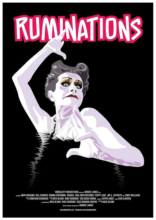 "The poster for ""Ruminations,"" a film by Robert James about Cockette and performance artist Rumi Missabu. Photo: Robert James, ""Ruminations"""