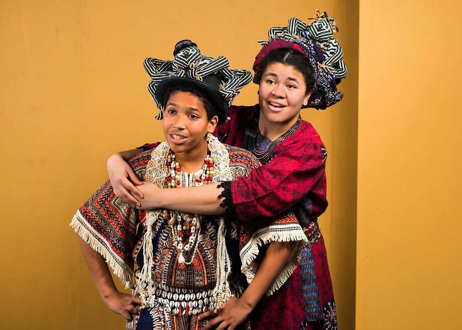 """Anansi (William Graff) and his wife, Aso (Sophia Patterson), in """"Anansi."""" Photo: Lois Tema, New Conservatory Theatre Center"""