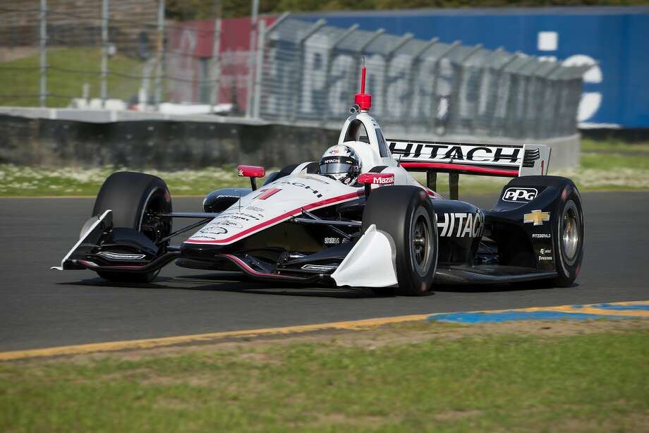 "Defending IndyCar Series champion Josef Newgarden was among 12 drivers from seven teams who held  testing sessions at Sonoma Raceway on Monday. Newgarden, 27, and the others were debuting the new-look ""aero kit"" cars that will be used this season. Sonoma will host the season-ending Grand Prix of Sonoma on Sept. 16. Photo: Mike Doran, Sonoma Raceway"