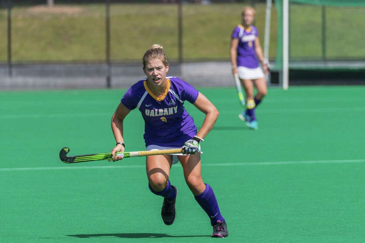 Saratoga Springs High School graduate Kelsey Briddell of the University at Albany field hockey team. (Bill Ziskin / UAlbany Athletics)