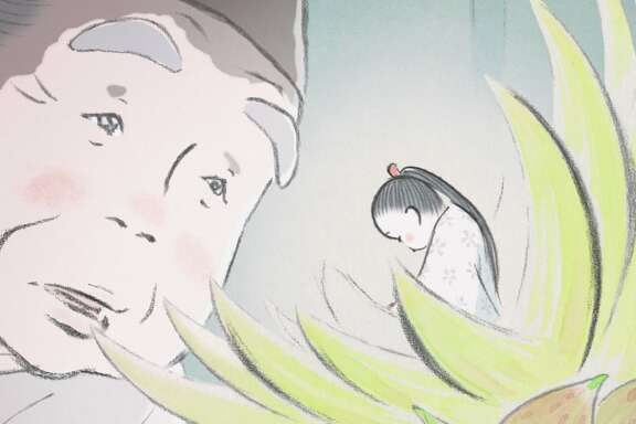 "A princess is born from a bamboo shoot in Isao Takahata's ""The Tale of the Princess Kaguya.""  Photo: Studio Ghibli"