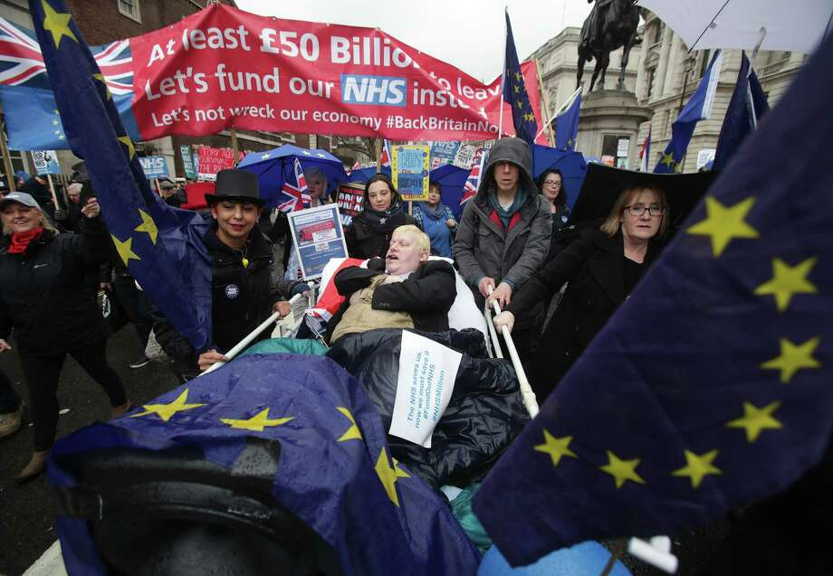 "People take part in a march in London in support of the National Health Service to demand an end to the ""crisis"" in the NHS. London, UK, on Saturday February 3, 2018. The Government will be urged to provide more beds, staff and funds to ease the problems facing the service. (Yui Mok/PA Wire/ABACAPRESS.COM/TNS) Photo: Mok Yui/PA Photos/ABACA, MBR / Abaca Press"