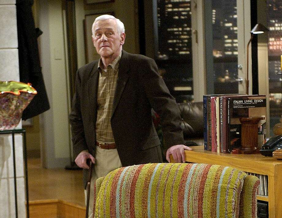 "John Mahoney appears on the set of the final episode of ""Frasier"" in 2004 in Los Angeles. Photo: Reed Saxon, Associated Press"